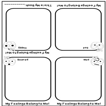 My Feelings Belong to Me: Kindergarten Social/Emotional Development