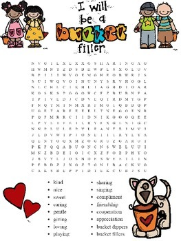 Have You Filled a Bucket Word Search