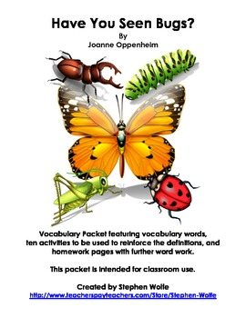 Have You Seen Bugs? Vocabulary Work