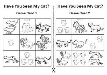 Have You Seen My Cat? -Tic Tac Toe Bingo Game Cards
