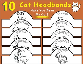 Have You Seen My Cat? by Eric Carle: Cat Headbands