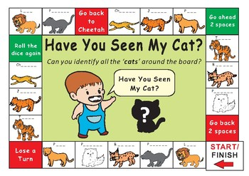 Have You Seen My Cat? by Eric Carle Game Board