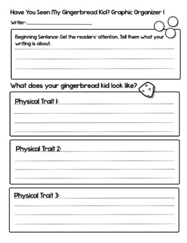 Have You Seen My Gingerbread Kid? Holiday Descriptive Writing and Craft