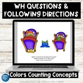 No Print Speech Therapy Activity Scenes| Following Directions  | Teletherapy