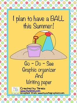 Have a BALL this Summer writing activity