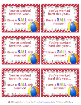 have a ball end of the year gift tag