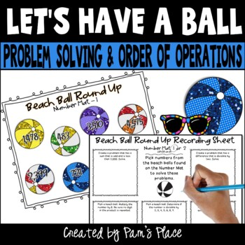 Problem Solving, Computation, Order of Operations Activities