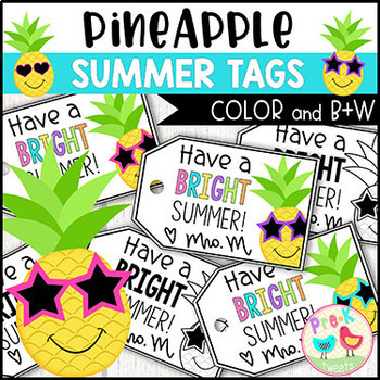 Have A Bright Summer Gift Tags By Pre K Tweets Tpt