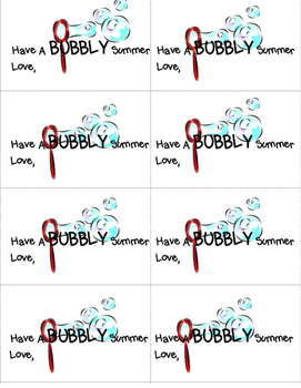 Have a Bubbly Summer! Printable Card