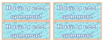 Summer Gift Labels
