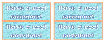 photograph regarding Have a Cool Summer Printable named Summer time Reward Labels