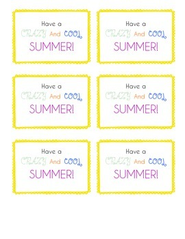Have a Crazy Cool Summer