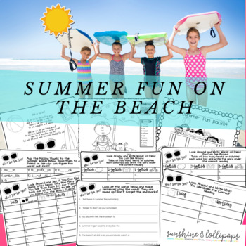 Summer Activities Have a Fun Summer NO PREP Ready to Use Right on the Beach