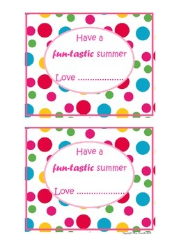 Have a Fun-Tastic summer Notes