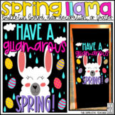 Have a GLlamarous Spring April Bulletin Board, Door Decora