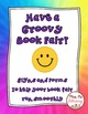 Hippie theme Groovy Book Fair Signs and Forms Library Fund Raiser