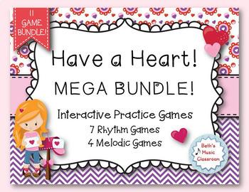 Have a Heart! MEGA BUNDLE! 11 Interactive Rhythmic/Melodic Games!