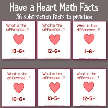 Addition and Subtraction Facts Valentine Game