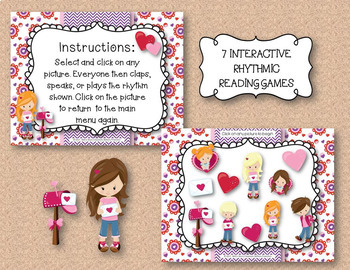 Have a Heart! Rhythms! An Interactive Rhythm Game BUNDLE - 7 GAMES!