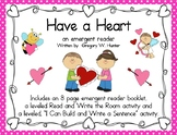 """Have a Heart""  a Valentine Emergent Reader for Valentine'"