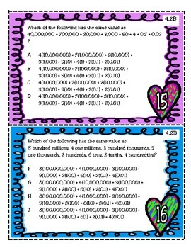 Have a Heart for Decimals (TEKS 4.2B and 4.2G)