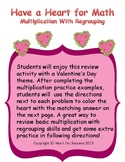 Valentine's Day Fun: Have a Heart for Math (Multiplication With Regrouping)