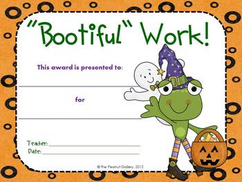 Have a Hopping Halloween! (Halloween Frog Theme Awards)