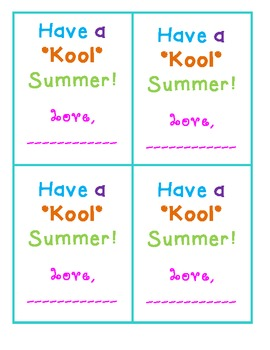 Have a Kool Summer Tag