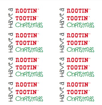 Have a Rootin Tootin Christmas label