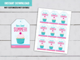 Have a SWEET Summer Gift Tags, Cupcake Favors Cards, Classmates Exchange Ideas