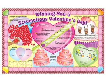 Have a Scrumptious Valentine's Day Activity Mats