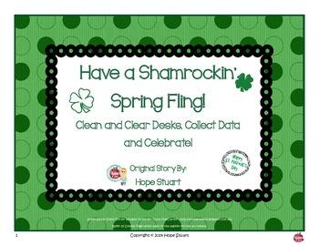 Have a Shamrockin' Spring Fling!  Clean Desks, Collect Data and Celebrate!