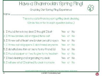 Have a Shamrockin' Spring Fling!  Power Point Packet-Clean Desks, Collect Data..