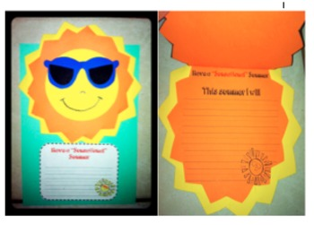 "Have a ""Sunsational"" Summer!  End of Year Summer Writing Craftivity!"