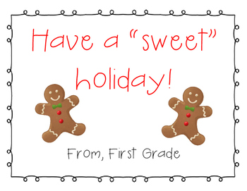 """Have a """"Sweet"""" Holiday Sign (All Grades)"""