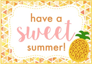 Have a Sweet Summer Pineapple Gift Tags FREEBIE