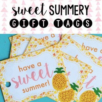 graphic about Have a Sweet Summer Printable named Consist of A Adorable Summertime Tag Worksheets Training Components TpT