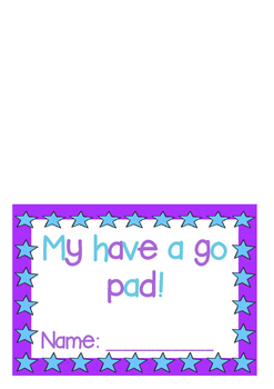 Have-a-go pad cover