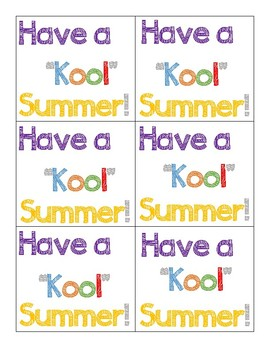 photograph about Have a Kool Summer Printable titled Kool Summertime Printable Tags Worksheets Lecturers Spend Lecturers