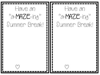 "Have an a""MAZE""ing Summer Tag"
