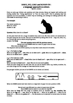 Have, do, like - a scientific method for children