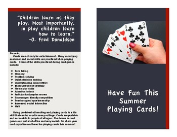 Have fun this summer playing cards