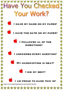 Have you checked your work poster