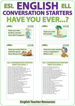 Have you ever...? English Conversation Flash Cards