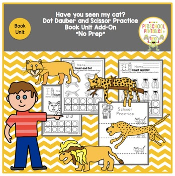 Have you seen my cat? Book Unit add-on Dot Dauber and Scis