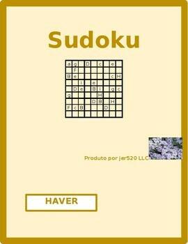 Haver Portuguese verb present tense Sudoku