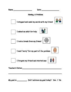 Having A Problem Behaviour Checklist