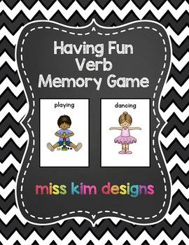 Having Fun Verb Memory Game