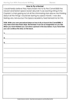 Procedural Writing with a Twist ~ Activity pack with Original Text!