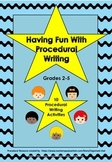 Procedural Writing with a Twist ~ Activity pack with Origi